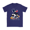 Mickey Mouse NFL Houston Texans American Football Sports Shirts-T-shirt-Gildan Womens T-Shirt-Purple-S-Itees Global