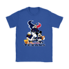 Mickey Mouse NFL Houston Texans American Football Sports Shirts-T-shirt-Gildan Womens T-Shirt-Royal Blue-S-Itees Global