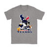 Mickey Mouse NFL Houston Texans American Football Sports Shirts-T-shirt-Gildan Womens T-Shirt-Sport Grey-S-Itees Global