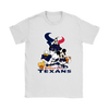 Mickey Mouse NFL Houston Texans American Football Sports Shirts-T-shirt-Gildan Womens T-Shirt-White-S-Itees Global
