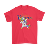 Minnesota Vikings Unicorn Dabbing Football Sports Shirts-T-shirt-Gildan Mens T-Shirt-Red-S-PopsSpot