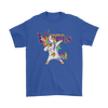 Minnesota Vikings Unicorn Dabbing Football Sports Shirts-T-shirt-Gildan Mens T-Shirt-Royal Blue-S-PopsSpot