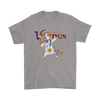 Minnesota Vikings Unicorn Dabbing Football Sports Shirts-T-shirt-Gildan Mens T-Shirt-Sport Grey-S-PopsSpot