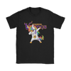 Minnesota Vikings Unicorn Dabbing Football Sports Shirts-T-shirt-Gildan Womens T-Shirt-Black-S-PopsSpot