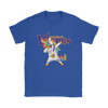 Minnesota Vikings Unicorn Dabbing Football Sports Shirts-T-shirt-Gildan Womens T-Shirt-Royal Blue-S-PopsSpot