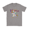 Minnesota Vikings Unicorn Dabbing Football Sports Shirts-T-shirt-Gildan Womens T-Shirt-Sport Grey-S-PopsSpot