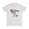 Minnesota Vikings Unicorn Dabbing Football Sports Shirts-T-shirt-Gildan Womens T-Shirt-White-S-PopsSpot