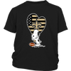 New Orleans Saints Snoopy Football Sports Shirts-T-shirt-District Youth Shirt-Black-XS-PopsSpot