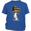 New Orleans Saints Snoopy Football Sports Shirts-T-shirt-District Youth Shirt-Royal Blue-XS-PopsSpot