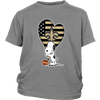 New Orleans Saints Snoopy Football Sports Shirts-T-shirt-District Youth Shirt-Sport Grey-XS-PopsSpot