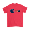 NFL - American Football Seattle Seahawks Pacman Shirts-T-shirt-Gildan Mens T-Shirt-Red-S-PopsSpot