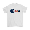 NFL - American Football Seattle Seahawks Pacman Shirts-T-shirt-Gildan Mens T-Shirt-White-S-PopsSpot