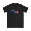 NFL - American Football Seattle Seahawks Pacman Shirts-T-shirt-Gildan Womens T-Shirt-Black-S-PopsSpot