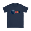 NFL - American Football Seattle Seahawks Pacman Shirts-T-shirt-Gildan Womens T-Shirt-Navy-S-PopsSpot