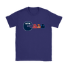 NFL - American Football Seattle Seahawks Pacman Shirts-T-shirt-Gildan Womens T-Shirt-Purple-S-PopsSpot