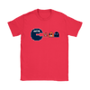 NFL - American Football Seattle Seahawks Pacman Shirts-T-shirt-Gildan Womens T-Shirt-Red-S-PopsSpot