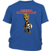 NFL - Arizona Cardinals Guardians Of The Galaxy Groot NFL Football Shirts-T-shirt-District Youth Shirt-Royal Blue-XS-Itees Global