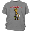 NFL - Arizona Cardinals Guardians Of The Galaxy Groot NFL Football Shirts-T-shirt-District Youth Shirt-Sport Grey-XS-Itees Global