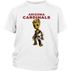 NFL - Arizona Cardinals Guardians Of The Galaxy Groot NFL Football Shirts-T-shirt-District Youth Shirt-White-XS-Itees Global
