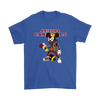 NFL - Arizona Cardinals Mickey Mouse Is Wearing A Peace Necklace Disney NFL Football Shirt-T-shirt-Gildan Mens T-Shirt-Royal Blue-S-Itees Global