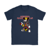 NFL - Arizona Cardinals Mickey Mouse Is Wearing A Peace Necklace Disney NFL Football Shirt-T-shirt-Gildan Womens T-Shirt-Navy-S-Itees Global