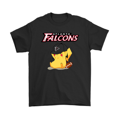NFL - Atlanta Falcons American Football Pikachu Shirts-T-shirt-Gildan Mens T-Shirt-Black-S-Itees Global