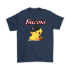 NFL - Atlanta Falcons American Football Pikachu Shirts-T-shirt-Gildan Mens T-Shirt-Navy-S-Itees Global