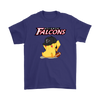NFL - Atlanta Falcons American Football Pikachu Shirts-T-shirt-Gildan Mens T-Shirt-Purple-S-Itees Global