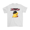 NFL - Atlanta Falcons American Football Pikachu Shirts-T-shirt-Gildan Mens T-Shirt-White-S-Itees Global