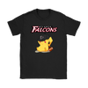 NFL - Atlanta Falcons American Football Pikachu Shirts-T-shirt-Gildan Womens T-Shirt-Black-S-Itees Global