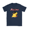 NFL - Atlanta Falcons American Football Pikachu Shirts-T-shirt-Gildan Womens T-Shirt-Navy-S-Itees Global