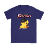 NFL - Atlanta Falcons American Football Pikachu Shirts-T-shirt-Gildan Womens T-Shirt-Purple-S-Itees Global