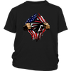 NFL - Atlanta Falcons Independence Day Football Shirts-T-shirt-District Youth Shirt-Black-XS-Itees Global