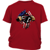 NFL - Atlanta Falcons Independence Day Football Shirts-T-shirt-District Youth Shirt-Red-XS-Itees Global