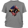 NFL - Atlanta Falcons Independence Day Football Shirts-T-shirt-District Youth Shirt-Sport Grey-XS-Itees Global