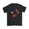 NFL - Atlanta Falcons Independence Day Football Shirts-T-shirt-Gildan Mens T-Shirt-Black-S-Itees Global