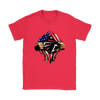 NFL - Atlanta Falcons Independence Day Football Shirts-T-shirt-Gildan Womens T-Shirt-Red-S-Itees Global