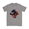NFL - Atlanta Falcons Independence Day Football Shirts-T-shirt-Gildan Womens T-Shirt-Sport Grey-S-Itees Global