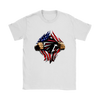 NFL - Atlanta Falcons Independence Day Football Shirts-T-shirt-Gildan Womens T-Shirt-White-S-Itees Global
