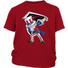NFL - Atlanta Falcons Uncle Sam Dabbing Independence Day NFL Football Shirts-T-shirt-District Youth Shirt-Red-XS-Itees Global