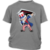 NFL - Atlanta Falcons Uncle Sam Dabbing Independence Day NFL Football Shirts-T-shirt-District Youth Shirt-Sport Grey-XS-Itees Global