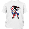 NFL - Atlanta Falcons Uncle Sam Dabbing Independence Day NFL Football Shirts-T-shirt-District Youth Shirt-White-XS-Itees Global