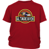 NFL - Baltimore Ravens Jurassic World: Fallen Kingdom Football NFL Shirts-T-shirt-District Youth Shirt-Red-XS-PopsSpot