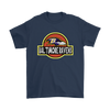 NFL - Baltimore Ravens Jurassic World: Fallen Kingdom Football NFL Shirts-T-shirt-Gildan Mens T-Shirt-Navy-S-PopsSpot