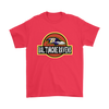 NFL - Baltimore Ravens Jurassic World: Fallen Kingdom Football NFL Shirts-T-shirt-Gildan Mens T-Shirt-Red-S-PopsSpot