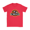NFL - Baltimore Ravens Jurassic World: Fallen Kingdom Football NFL Shirts-T-shirt-Gildan Womens T-Shirt-Red-S-PopsSpot