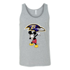 NFL - Baltimore Ravens Mickey Mouse Dabbing NFL Football Shirts-T-shirt-Canvas Unisex Tank-Athletic Grey-S-Itees Global