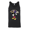 NFL - Baltimore Ravens Mickey Mouse Dabbing NFL Football Shirts-T-shirt-Canvas Unisex Tank-Black-S-Itees Global