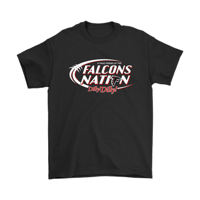 NFL – Bud Light Dilly Dilly A True Friend Of The Atlanta Falcons Nation NFL Football Shirt-T-shirt-Gildan Mens T-Shirt-Black-S-Itees Global