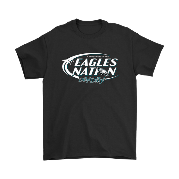 NFL – Bud Light Dilly Dilly A True Friend Of The Philadelphia Eagles Nation NFL Football Shirt-T-shirt-Gildan Mens T-Shirt-Black-S-Itees Global
